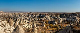 Panorama of the Devrent Valley in Nevsehir, Turkey.