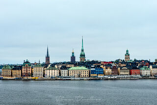 Old Town Stockholm viewed from the water.