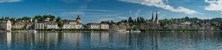 Panorama of Lucerne, Switzerland waterfront.