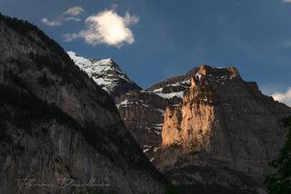 East wall of Lauterbrunnen Valley, Switzerland.