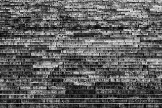 The stone steps of the Helsinki Cathedral in Finland in black and white.