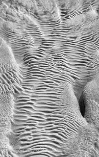 Abstract close-up of travertine deposits of Pamukkale in Denizli Province of Turkey.