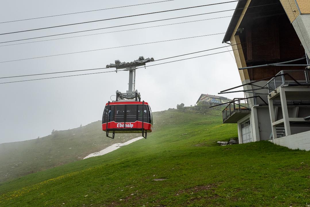 The Ebenalp gondola station.