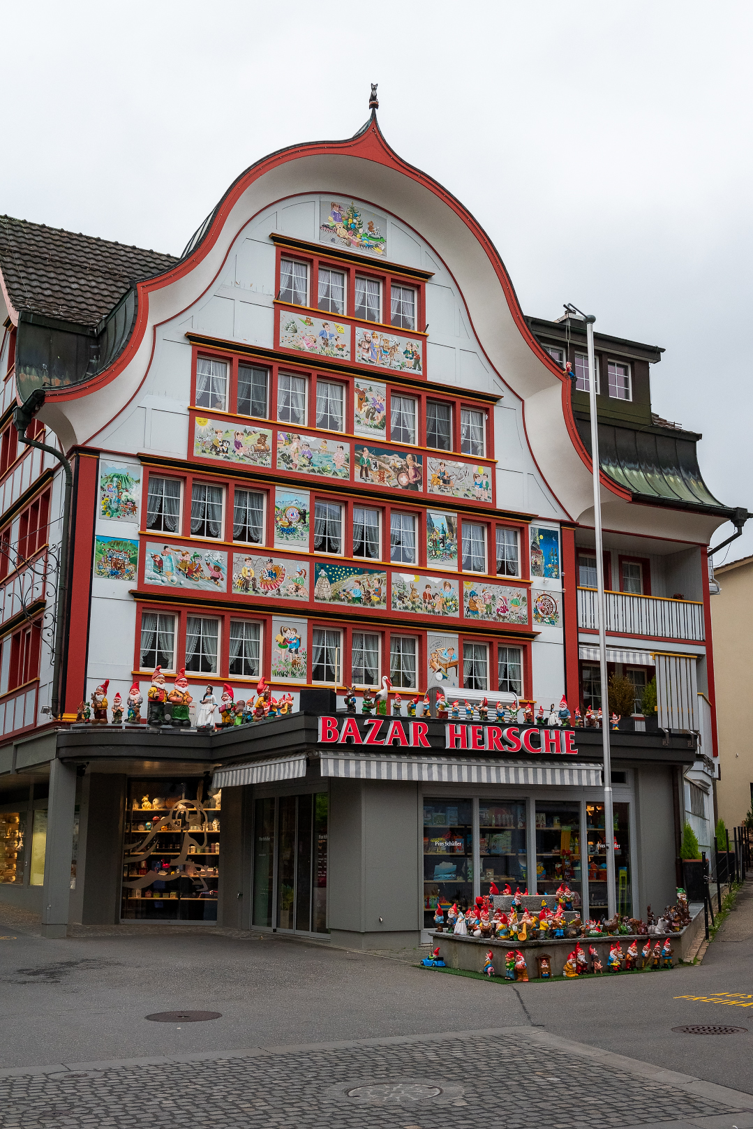 A colorful shopfront in Appenzell, Switzerland