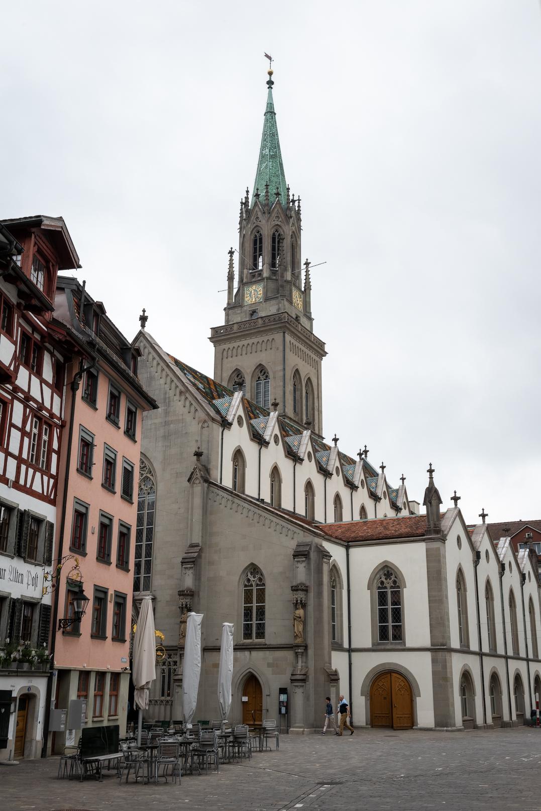 The Kirche St. Laurenzen Evangelical Church in St. Gallen, Switzerland.