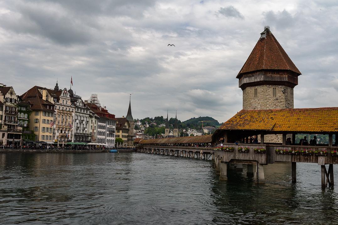 Old Town Lucerne with Kapelbrucke (Chapel Bridge)
