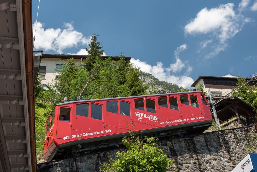 Mt Pilatus cable car station