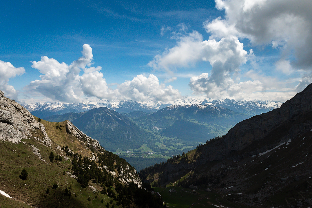 On the cable car up to Mt. Pilatus