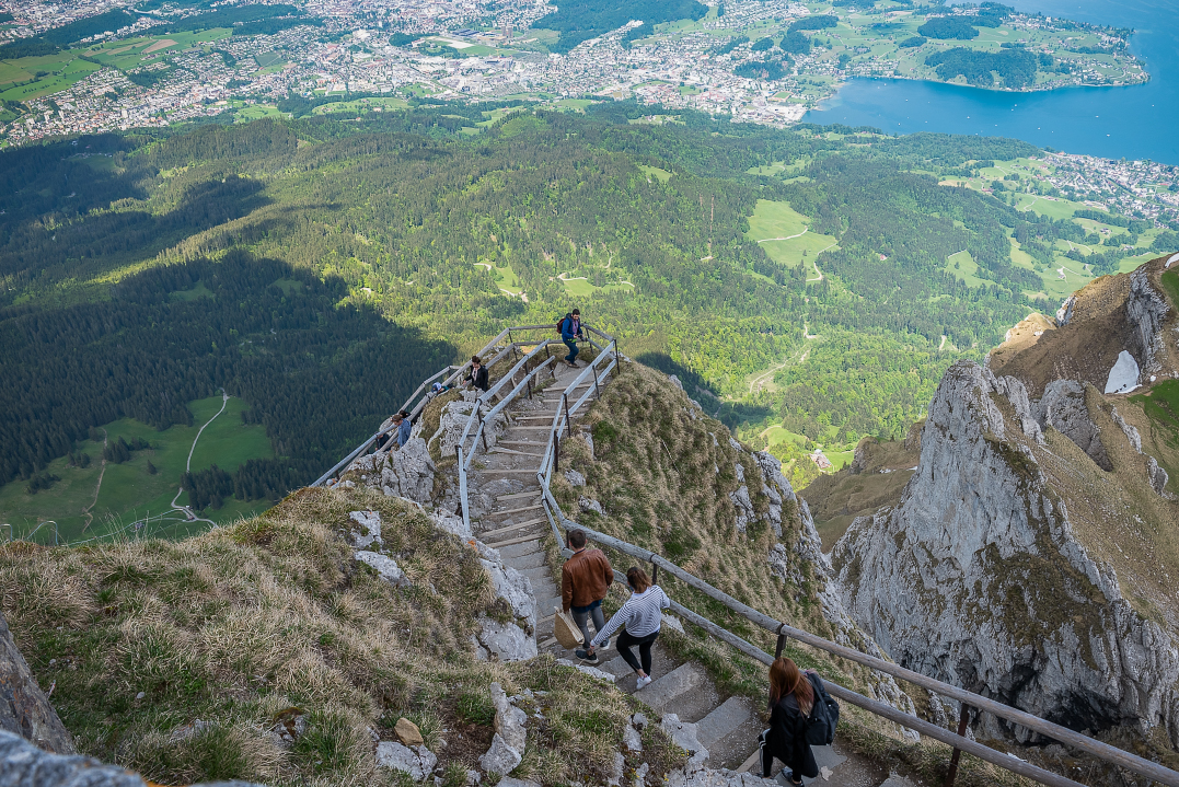 views from the top of Mt Pilatus