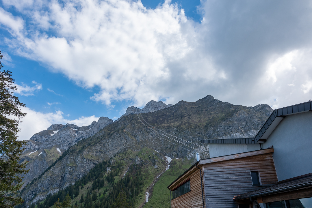 Looking back up to Mt Pilatus