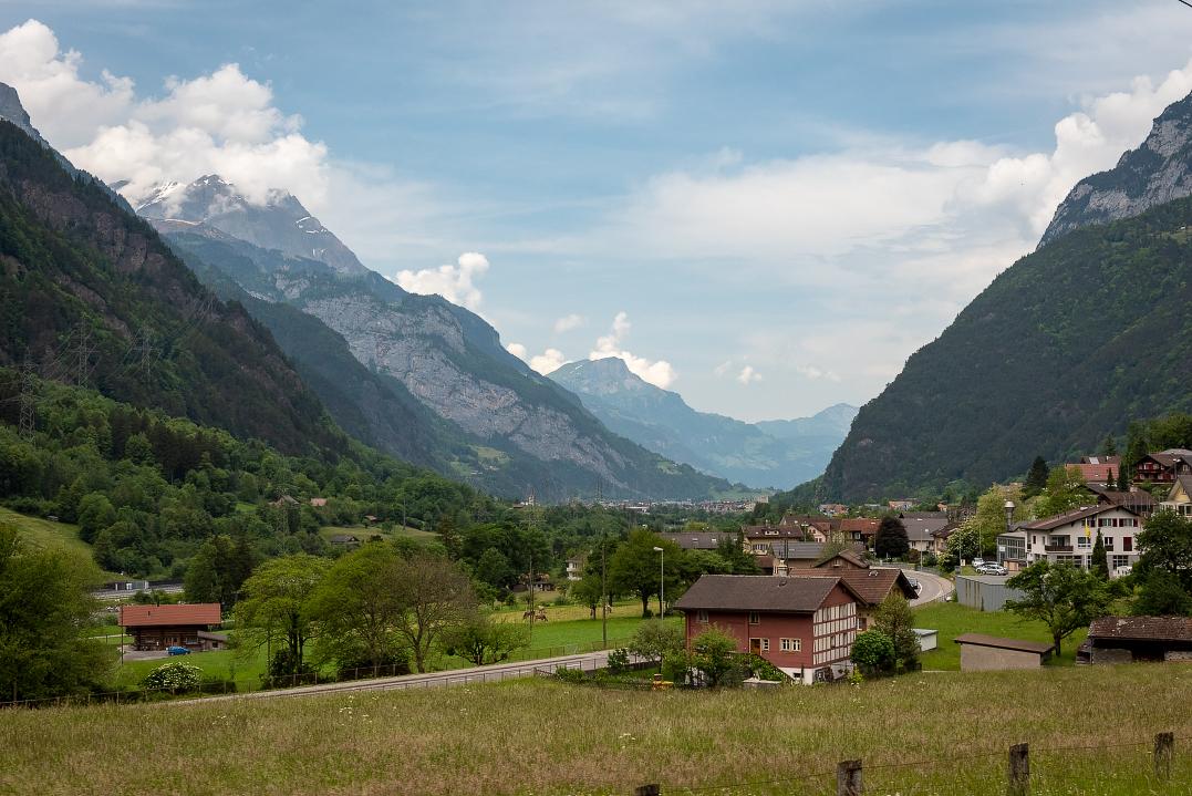 Panorama train ride from Fluelen to Lugano
