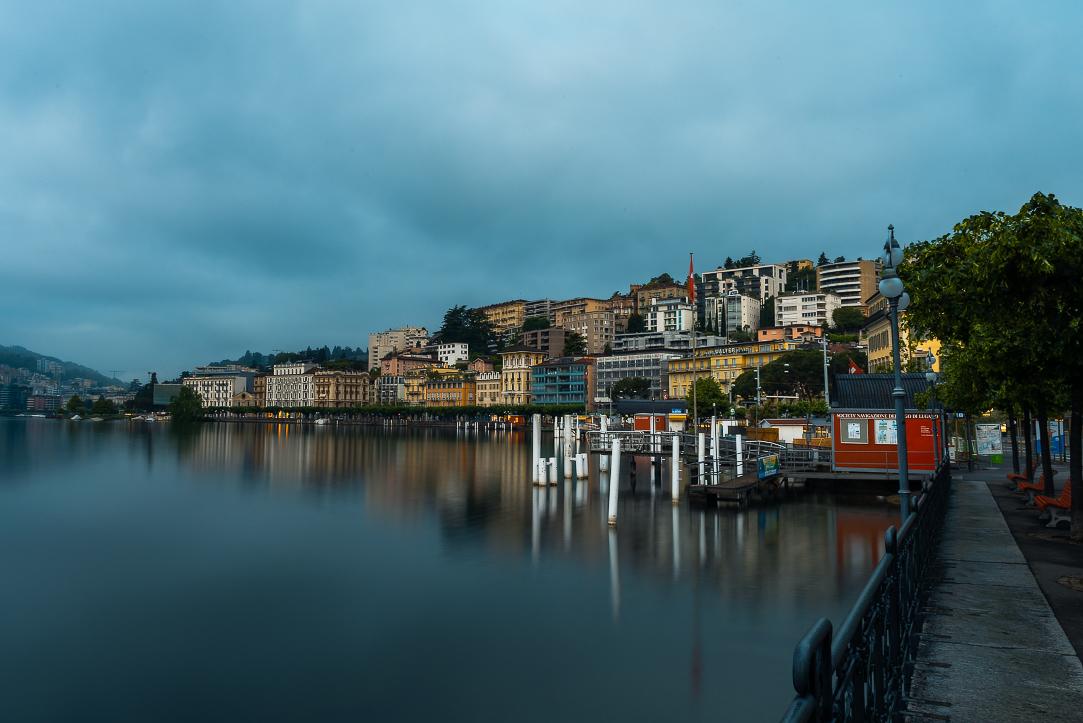 Lugano from lakeshore