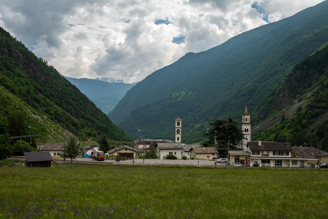 On the train from Tirano up to Bernina Pass