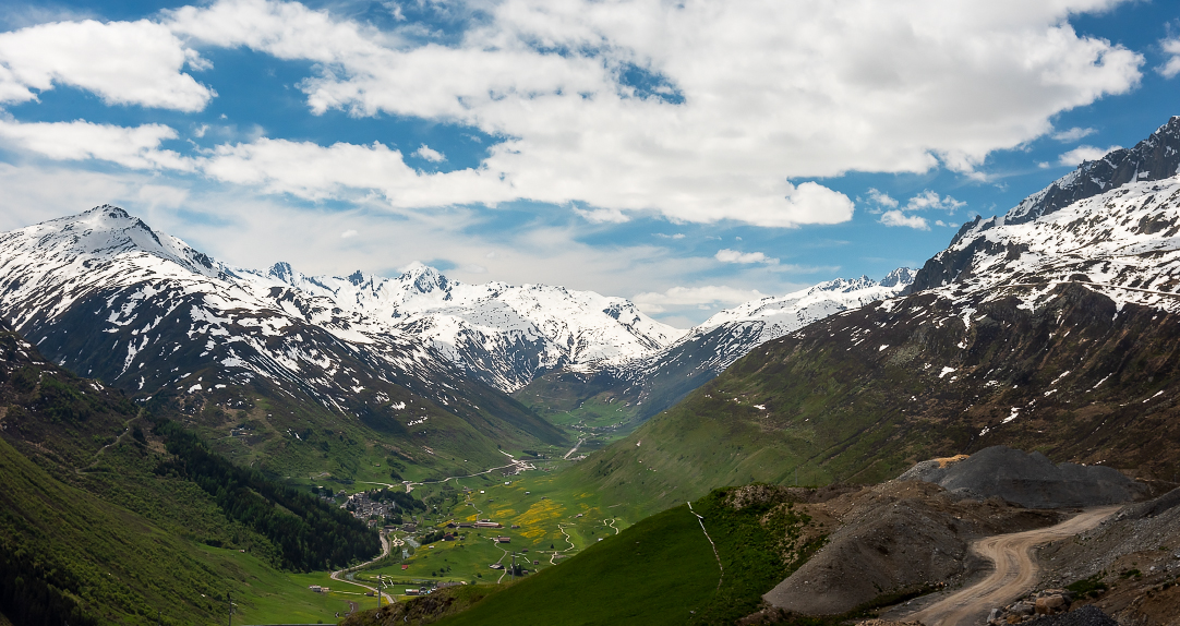 From the top of Oberalppass