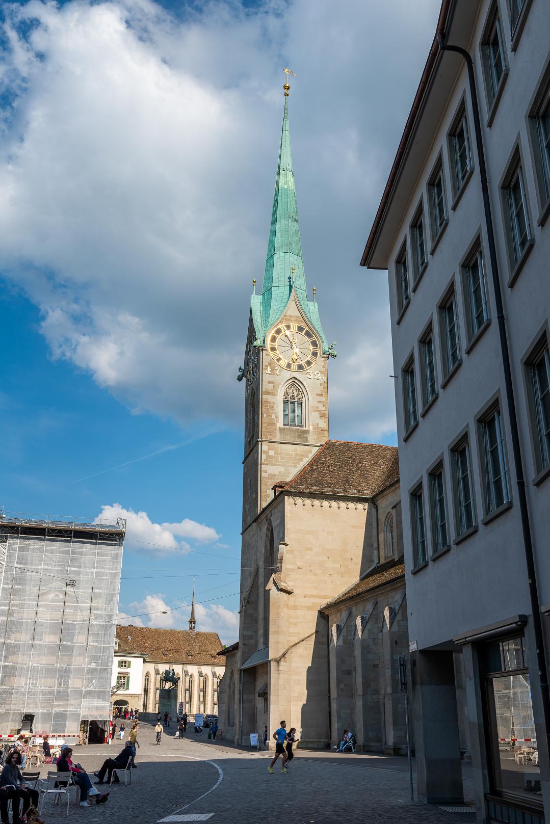 The Fraumünster kirche in central Zurich.