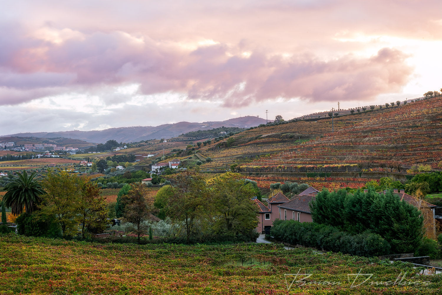 Douro Valley from grounds of Six Senses in Lamego, Portugal.