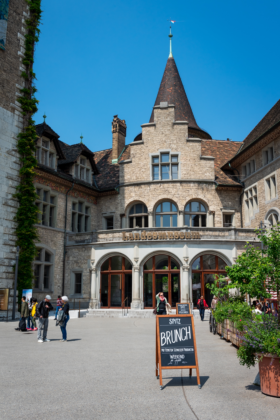 Entrance to the Swiss National Museum in Zurich.